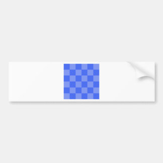 Checkered Large - Blue and Light Blue Bumper Sticker