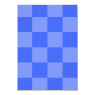 Checkered Large - Blue and Light Blue 3.5x5 Paper Invitation Card