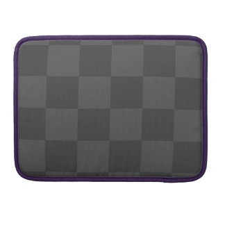 Checkered Large - Gray and Dark Gray Sleeve For MacBook Pro