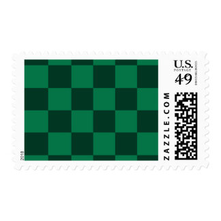 Checkered Large - Green and Dark Green Postage