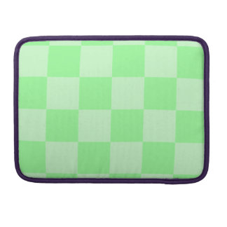 Checkered Large - Green and Light Green MacBook Pro Sleeve