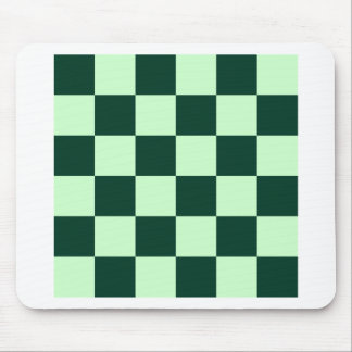 Checkered Large - Light Green and Dark Green Mouse Pad