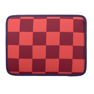 Checkered Large - Light Red and Dark Red Sleeve For MacBook Pro