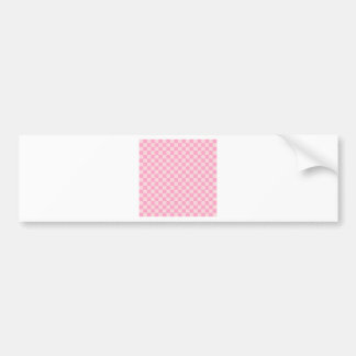 Checkered Large - Pink 2 - Pale Pink and Carnation Car Bumper Sticker