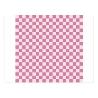 Checkered Large - Pink Lace and Puce Postcard