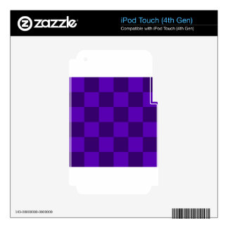 Checkered Large - Violet and Dark Violet Skin For iPod Touch 4G