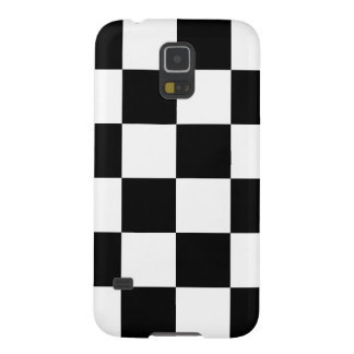 Checkered Large - White and Black Galaxy S5 Cover
