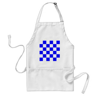 Checkered Large - White and Blue Aprons