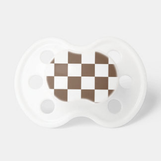 Checkered Large - White and Coffee Pacifier