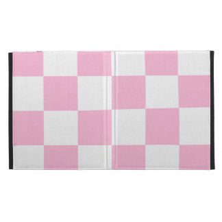 Checkered Large - White and Cotton Candy iPad Folio Covers