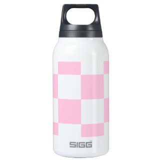 Checkered Large - White and Cotton Candy Thermos Bottle