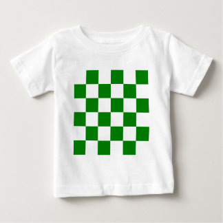 Checkered Large - White and Green Baby T-Shirt