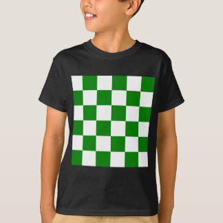 Checkered Large - White and Green T-Shirt