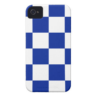 Checkered Large - White and Imperial Blue Case-Mate iPhone 4 Case
