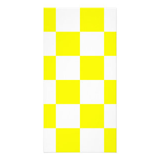 Checkered Large - White and Lemon Card