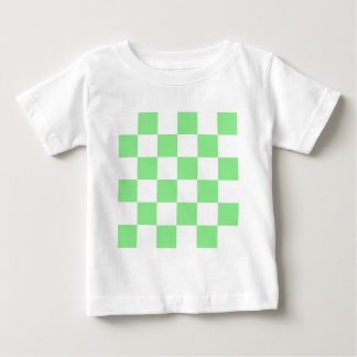 Checkered Large - White and Light Green Baby T-Shirt