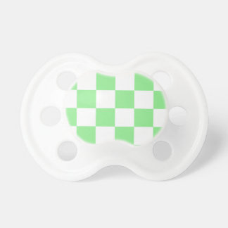 Checkered Large - White and Light Green Pacifier