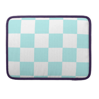 Checkered Large - White and Pale Blue MacBook Pro Sleeve