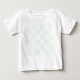 Checkered Large - White and Pastel Green Baby T-Shirt