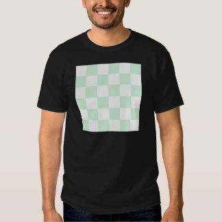 Checkered Large - White and Pastel Green T-Shirt