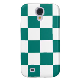 Checkered Large - White and Pine Green Galaxy S4 Cases