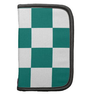 Checkered Large - White and Pine Green Planners