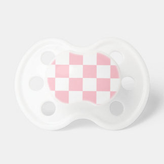 Checkered Large - White and Pink Pacifier