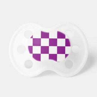 Checkered Large - White and Purple Pacifier