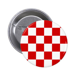Checkered Large - White and Rosso Corsa 2 Inch Round Button