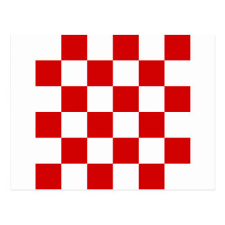 Checkered Large - White and Rosso Corsa Postcard