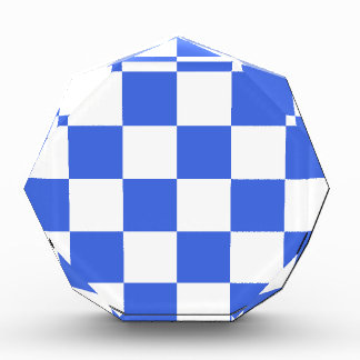 Checkered Large - White and Royal Blue Acrylic Award