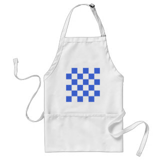 Checkered Large - White and Royal Blue Aprons