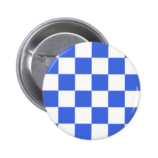 Checkered Large - White and Royal Blue Buttons