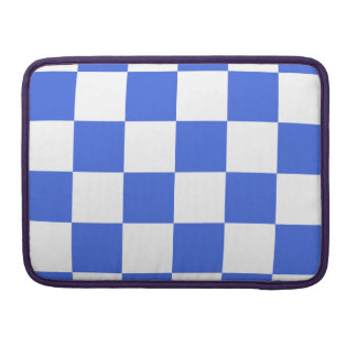 Checkered Large - White and Royal Blue Sleeve For MacBooks