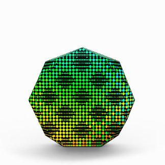 Checkered Lattice Fence Acrylic Award
