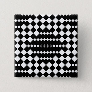 Checkered Lattice Fence by Kenneth Yoncich Button
