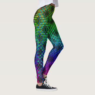Checkered Lattice Fence by Kenneth Yoncich Leggings