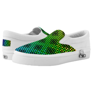 Checkered Lattice Fence Slip-On Sneakers