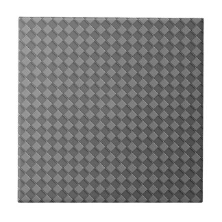 Checkered Leather Ceramic Tile