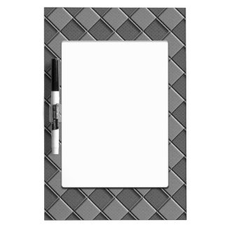 Checkered Leather Dry-Erase Board