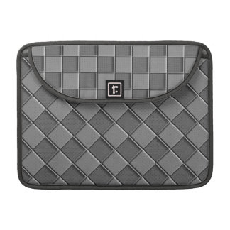 Checkered Leather Sleeves For MacBooks