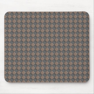 Checkered Leather Mouse Pad