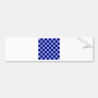 Checkered - Light Blue and Dark Blue Bumper Sticker