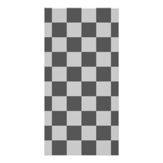 Checkered - Light Gray and Dark Gray Card