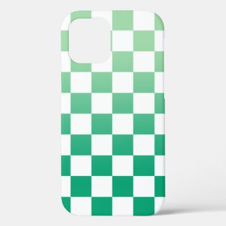 Checkered Light to Dark Green Ombré Pattern Case-Mate iPhone Case