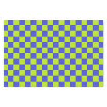 Checkered Lime Green and Blue Tissue Paper