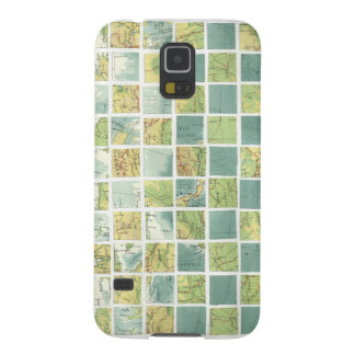 Checkered Maps Galaxy S5 Cover