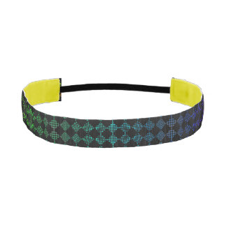 Checkered Moire Athletic Headband
