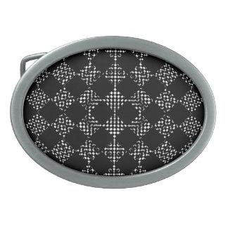 Checkered Moire Belt Buckles