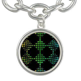 Checkered Moire Charm Bracelets